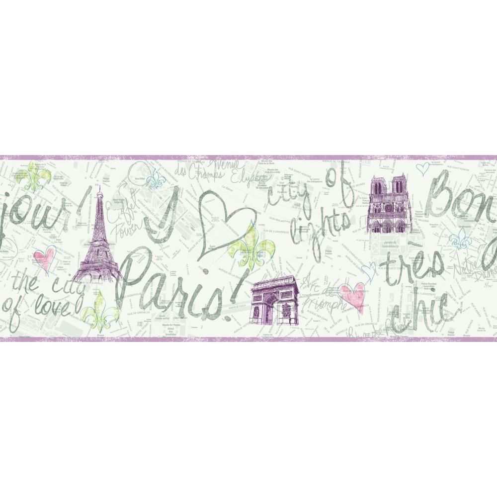 York Wallcoverings 9 in. Paris Border