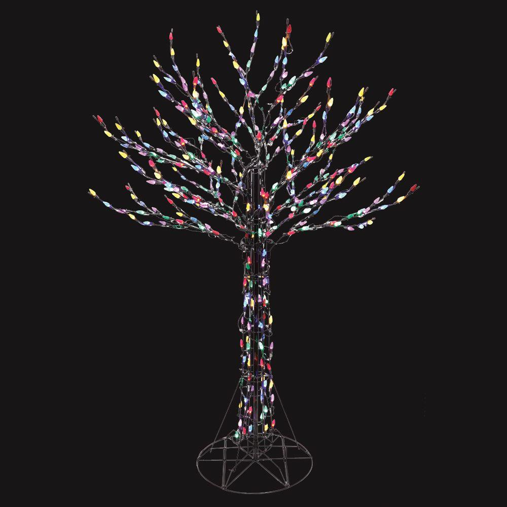Home Accents Holiday 6 ft. LED Deciduous Tree Sculpture with Multi-Color Lights