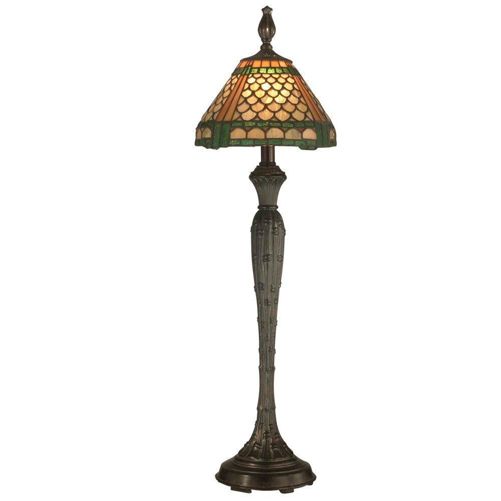 Dale Tiffany Tiffany Dover 1-Light Fieldstone Buffet Lamp-DISCONTINUED