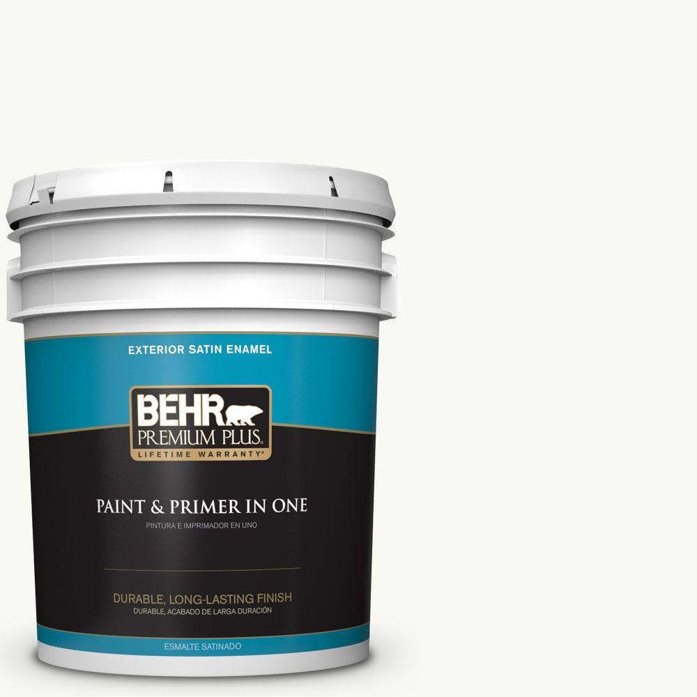 5-gal. #PR-W15 Ultra Pure White Satin Enamel Exterior Paint