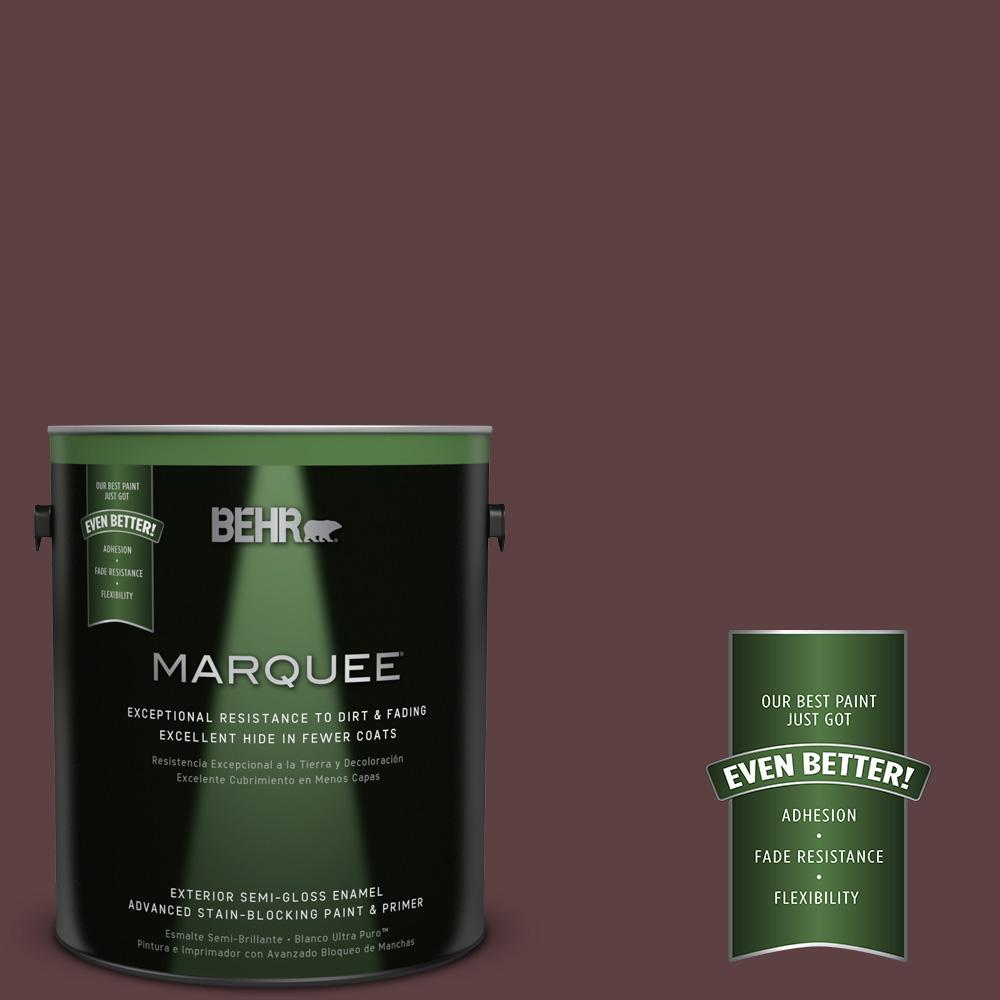 BEHR MARQUEE 1-gal. #140F-7 Embarcadero Semi-Gloss Enamel Exterior Paint