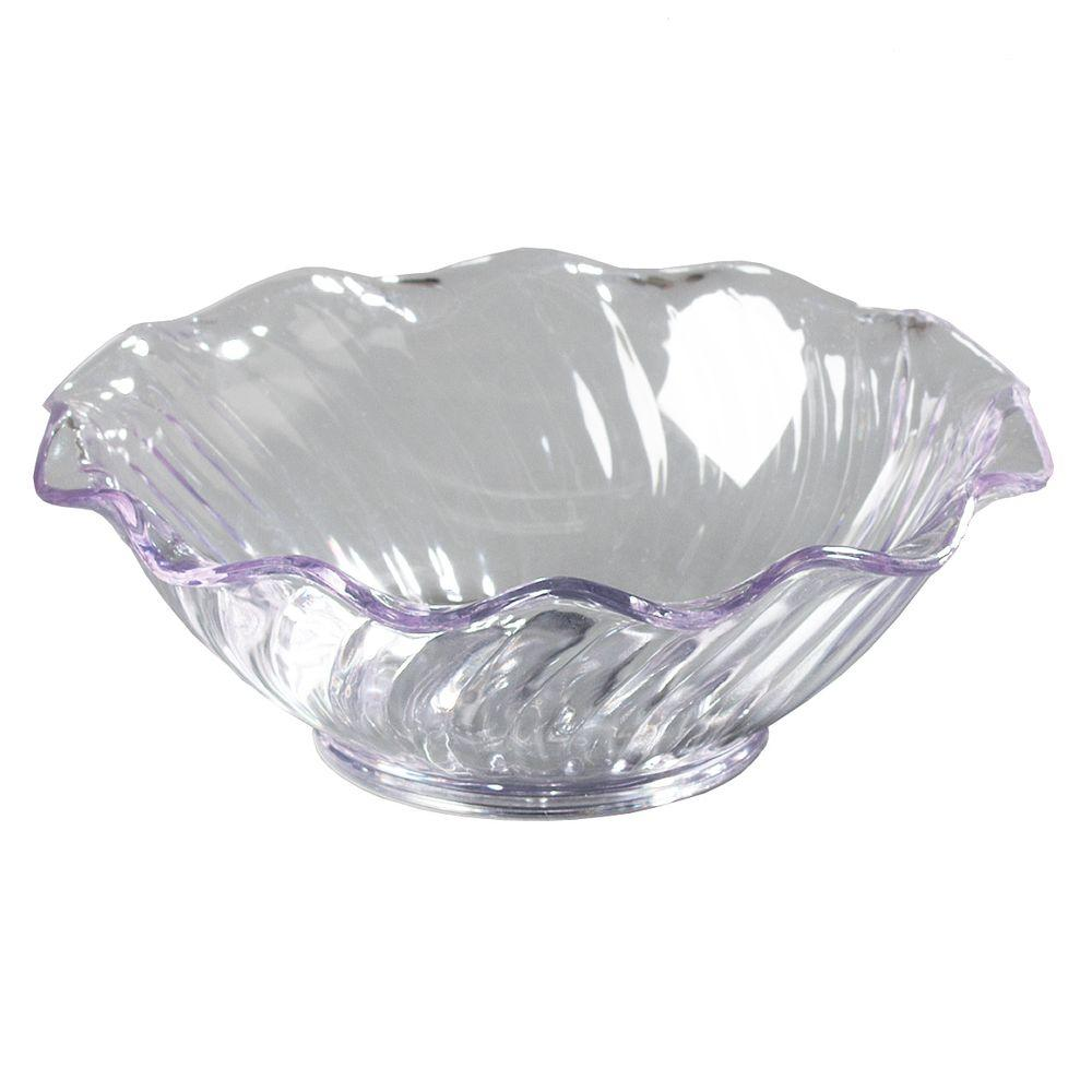 Carlisle 5 oz. SAN Plastic Tulip and Berry Dish in Clear (Case of 24)