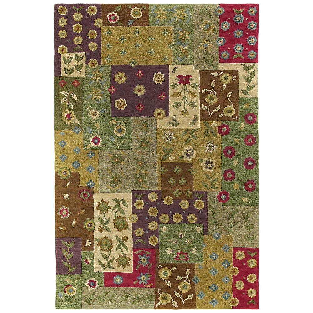 Khazana Patchwork Ivory 9 ft. 6 in. x 13 ft. Area Rug