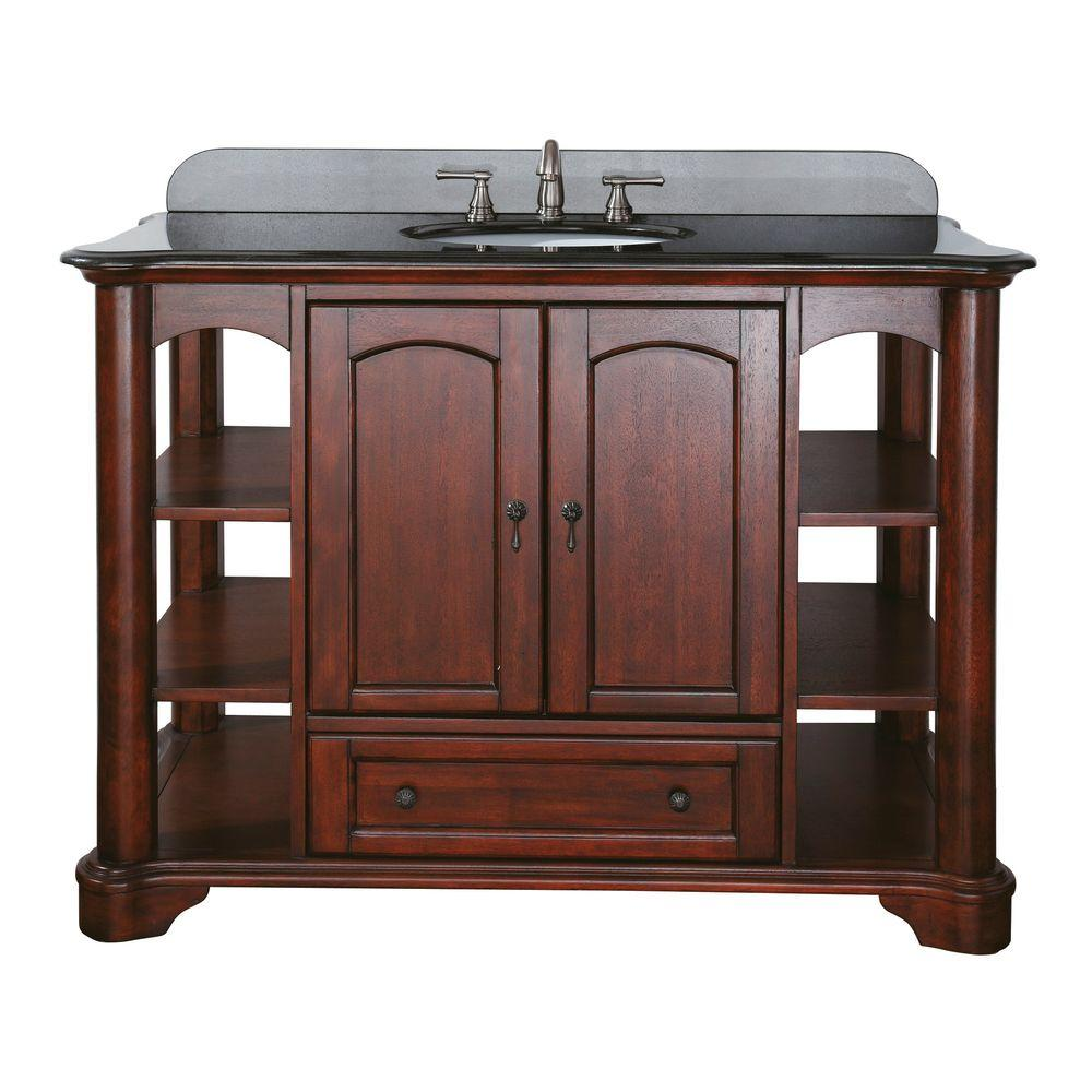 Avanity Vermont 48 in. W x 21 in. D Vanity Cabinet Only in Mahogany