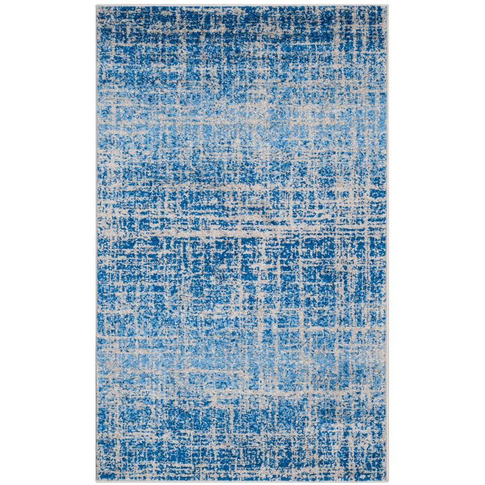Adirondack Blue/Silver 8 ft. x 10 ft. Area Rug