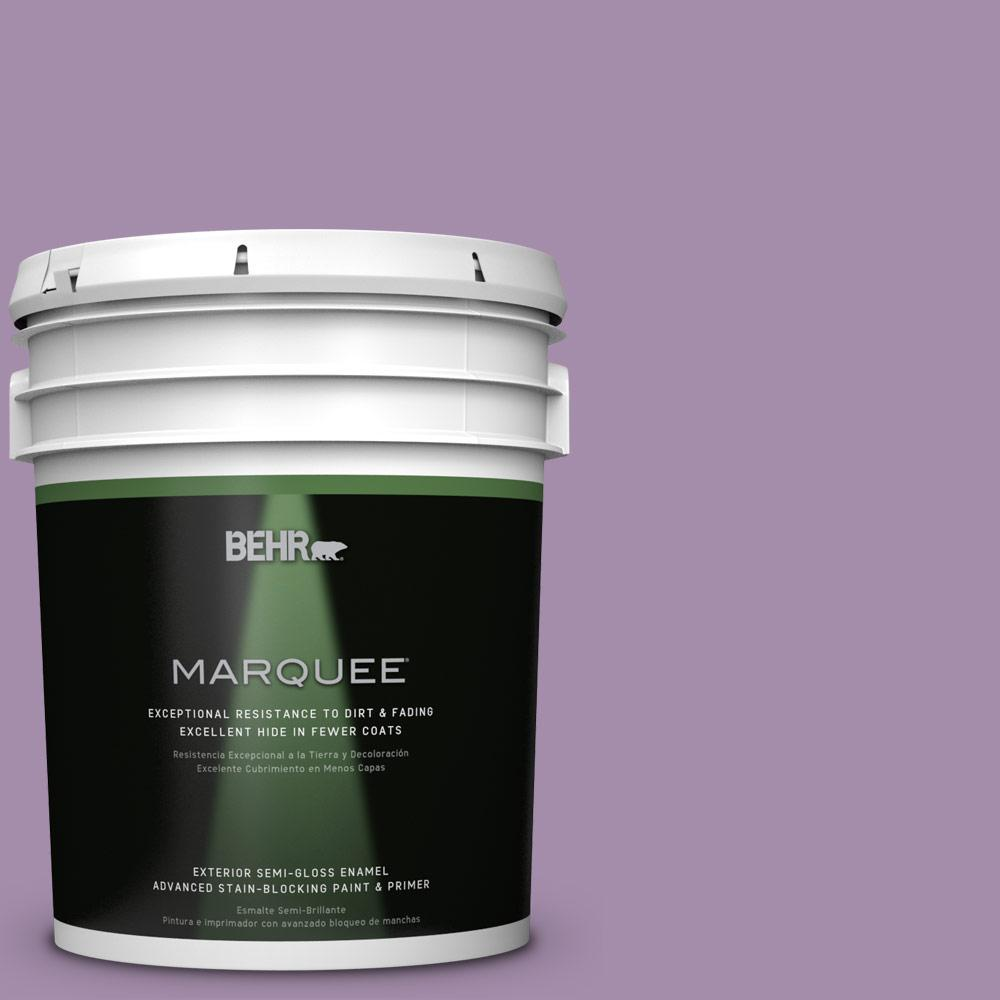 5-gal. #M100-4 Aged to Perfection Semi-Gloss Enamel Exterior Paint