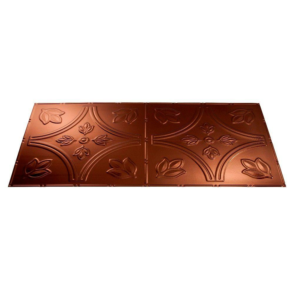 Fasade Traditional 5 2 ft. x 4 ft. Oil Rubbed Bronze Lay-in Ceiling Tile