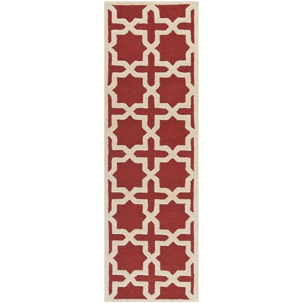 Cambridge Rust/Ivory (Red/Ivory) 2 ft. 6 in. x 12 ft. Runner