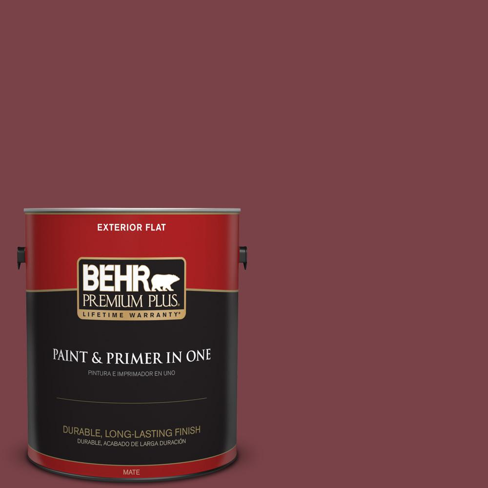 1 gal. #PPU1-13 Spiced Wine Flat Exterior Paint