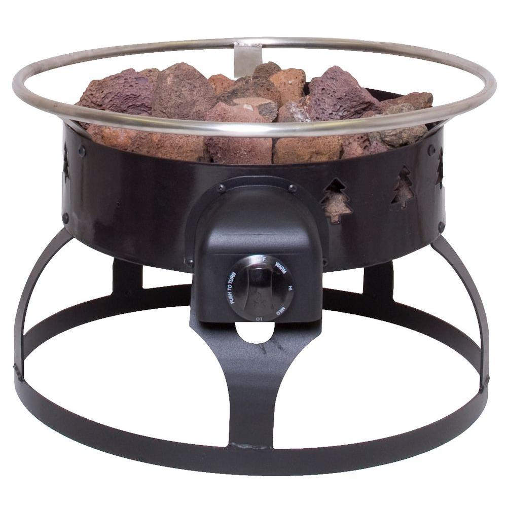 Camp Chef Redwood Portable Propane Gas Fire Pit, Black