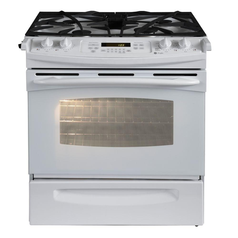 GE Profile 4.1 cu. ft. Slide-In Gas Range with Self-Cleaning Oven