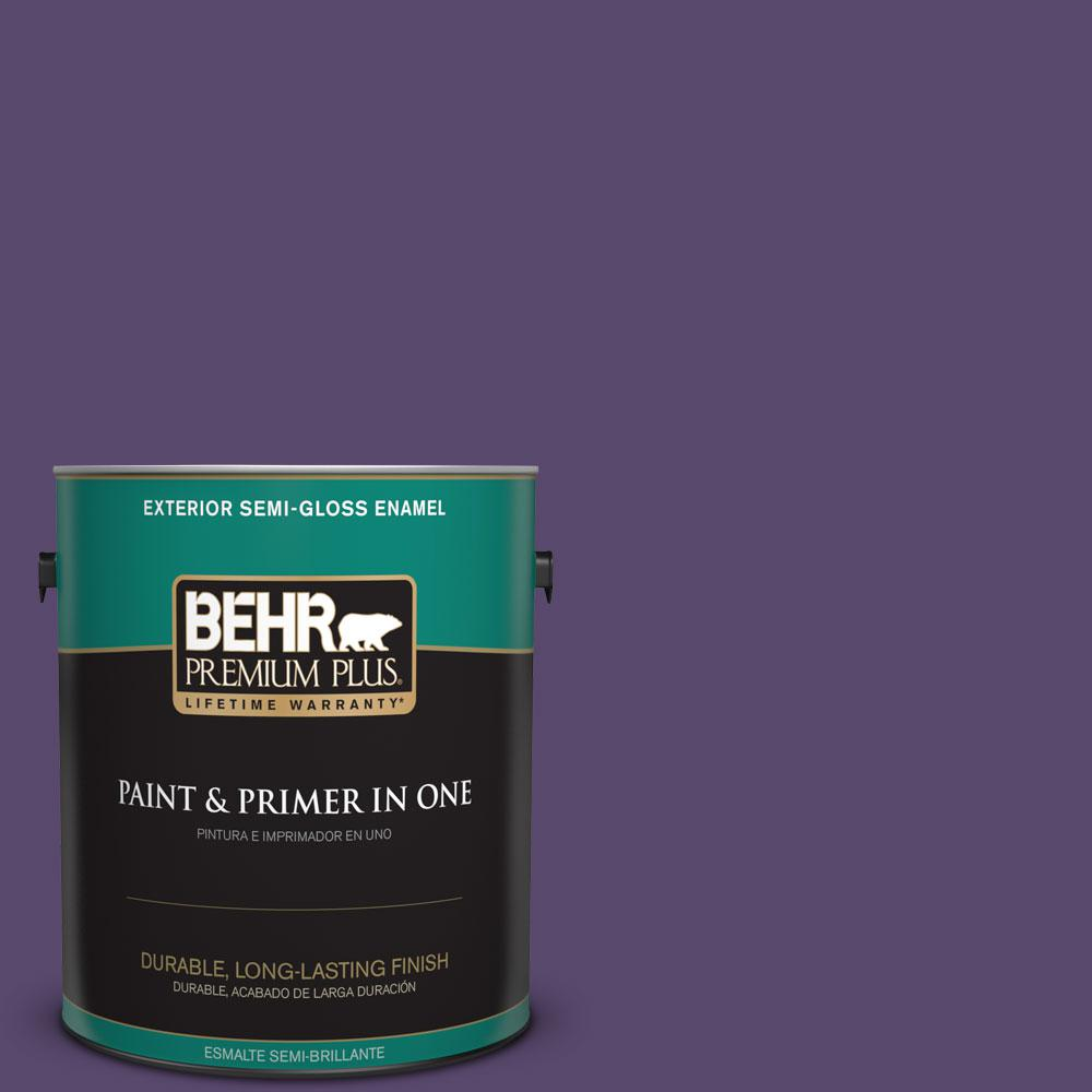 1-gal. #P570-7 Proper Purple Semi-Gloss Enamel Exterior Paint