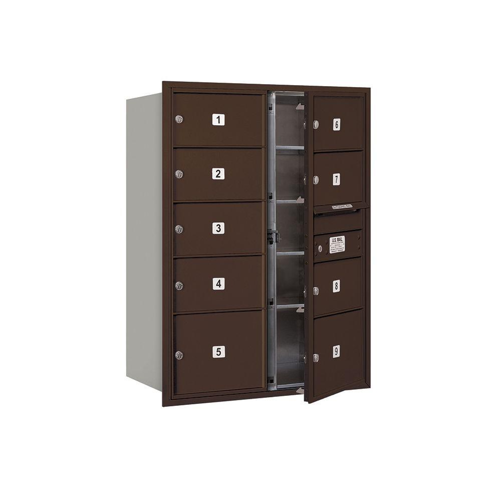 3700 Series 41 in. 11 Door High Unit Bronze USPS Front