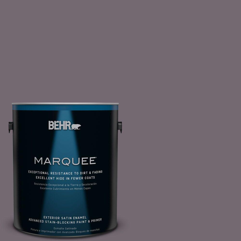 BEHR MARQUEE 1-gal. #MQ1-33 Sultry Smoke Satin Enamel Exterior Paint-945301 -