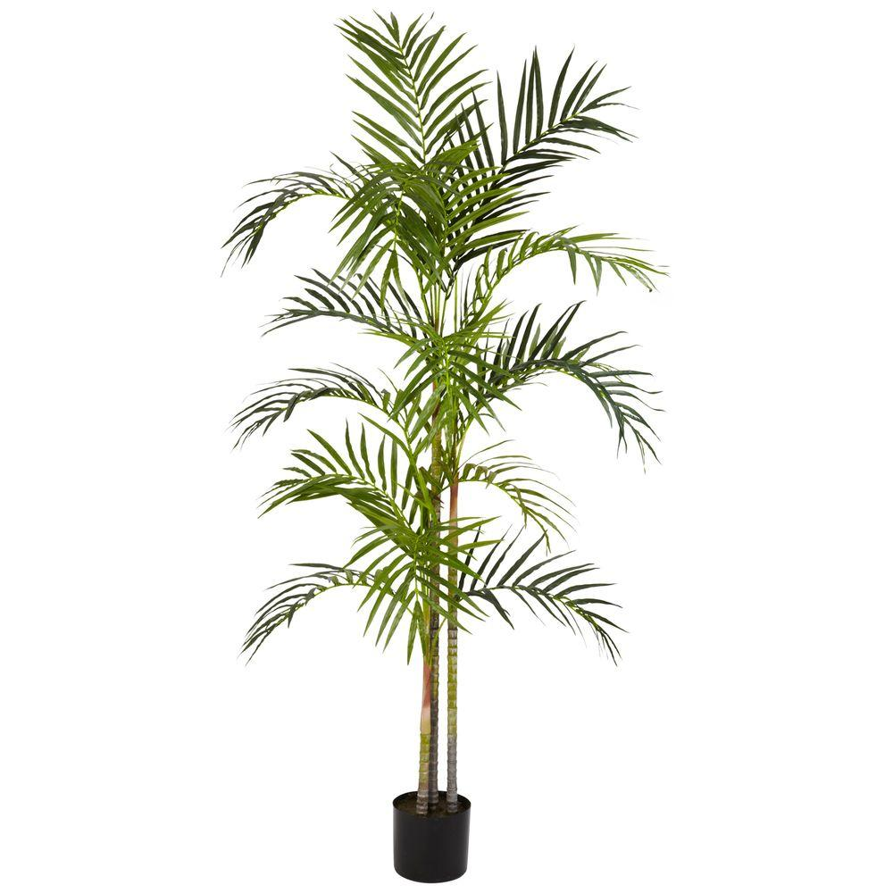 Nearly Natural 5 ft. Green Areca Palm Silk Tree