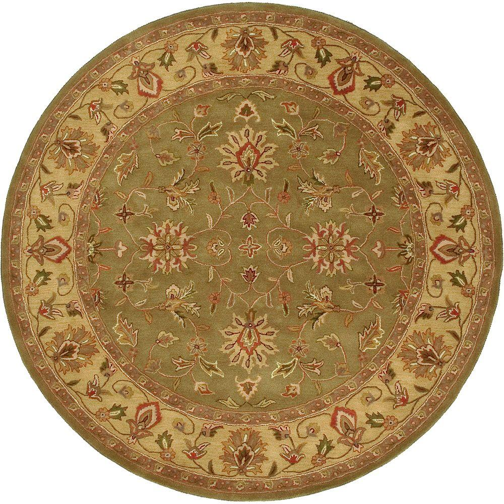 Artistic Weavers Franklin Fern 8 ft. Round Area Rug-Minden-8RD - The
