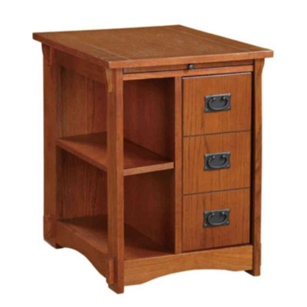 Home Decorators Collection Mission Oak Storage Cabinet Table