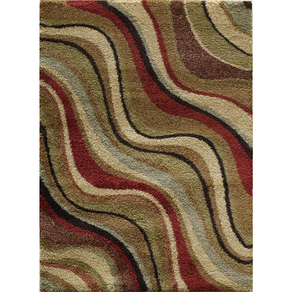 Tayse Rugs Fashion Shag Multi 5 ft. 3 in. x 7 ft. 3 in. Transitional Area Rug