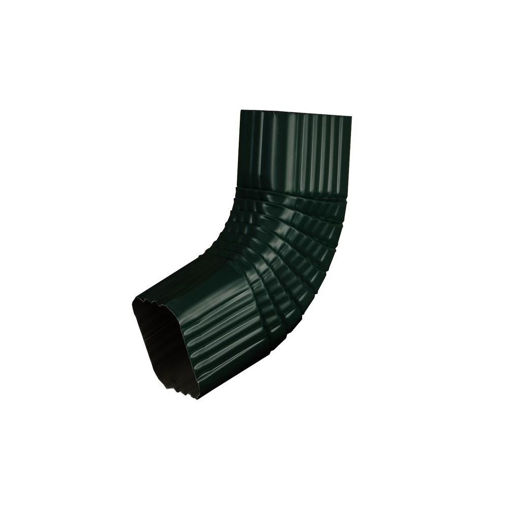 3 in. x 4 in. Grecian Green Aluminum Downspout B Elbow