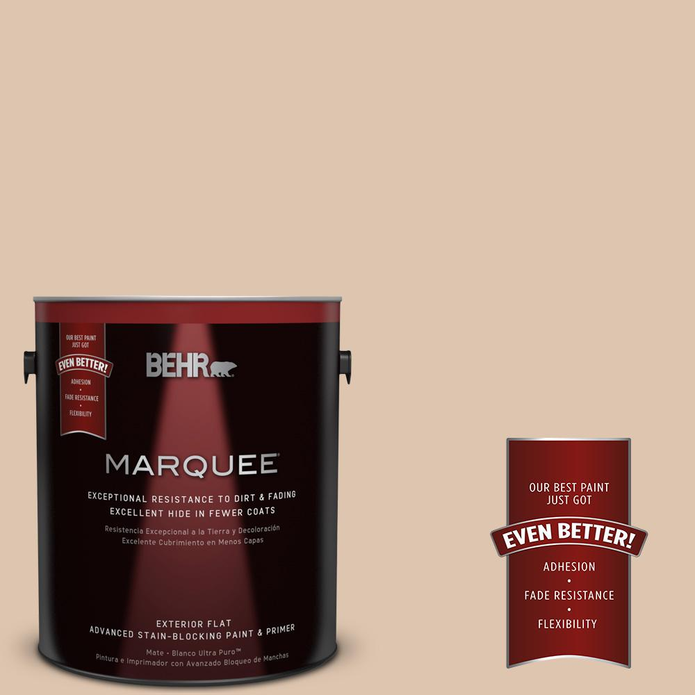BEHR MARQUEE 1-gal. #N250-2 Brazilian Tan Flat Exterior Paint-445001 - The