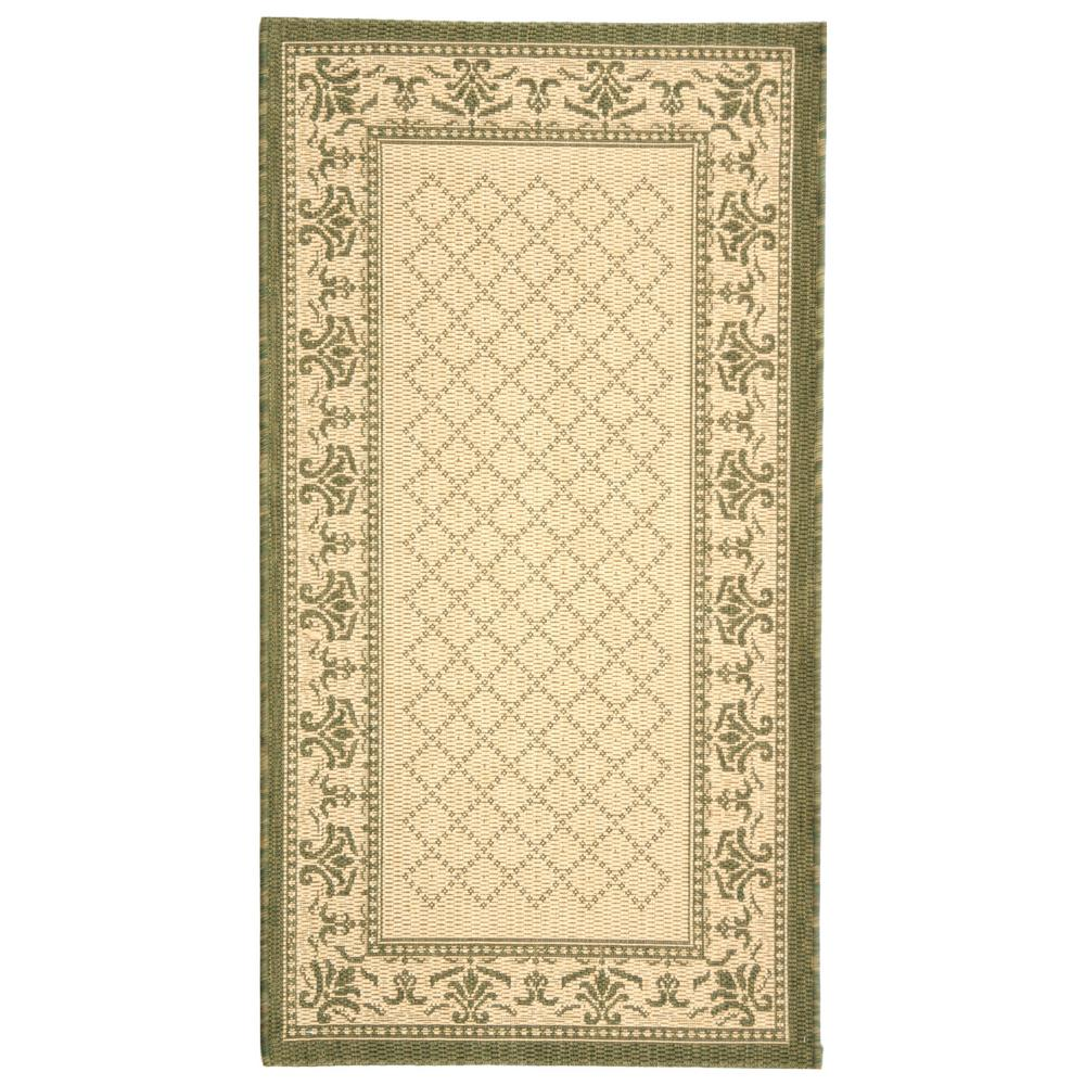 Courtyard Natural/Olive (Natural/Green) 2 ft. x 3 ft. 7 in. Indoor/Outdoor Area Rug Sale $16.59 SKU: 204829190 ID: CY0901-1E01-2 UPC: 683726902454 :