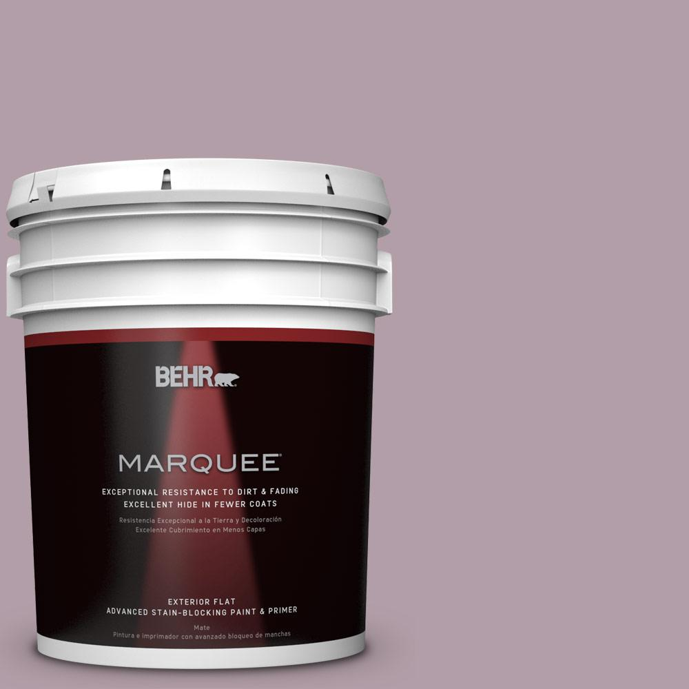 BEHR MARQUEE 5-gal. #PMD-34 Wild Lilac Flat Exterior Paint-445405 - The