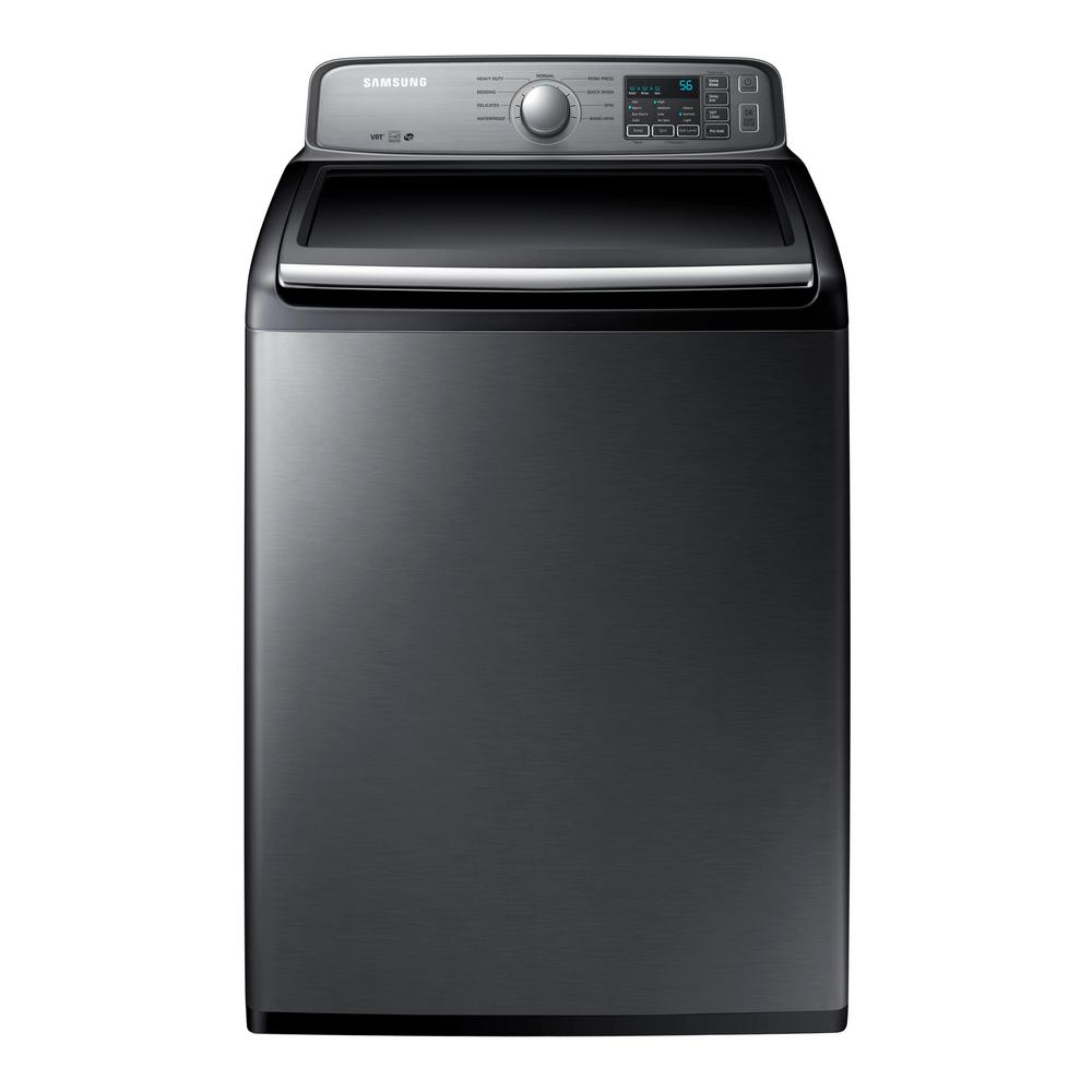 Samsung 4.5 cu. ft. High Efficiency Top Load Washer in Platinum,