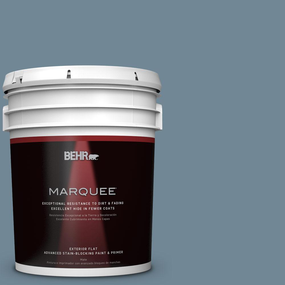 Home Decorators Collection 5-gal. #HDC-AC-24 Lyric Blue Flat Exterior Paint