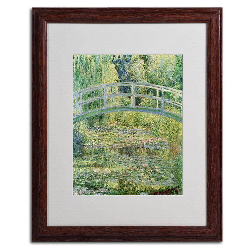 null 16 in. x 20 in. The Waterlily Pond - Pink Harmony 1899 Matted Framed Wall Art