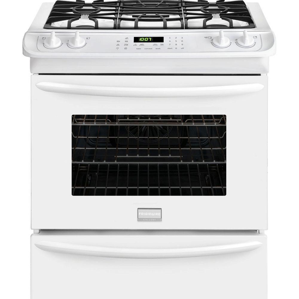 30 in. 4.6 cu. ft. Slide-In Gas Range with Self-Cleaning Convection