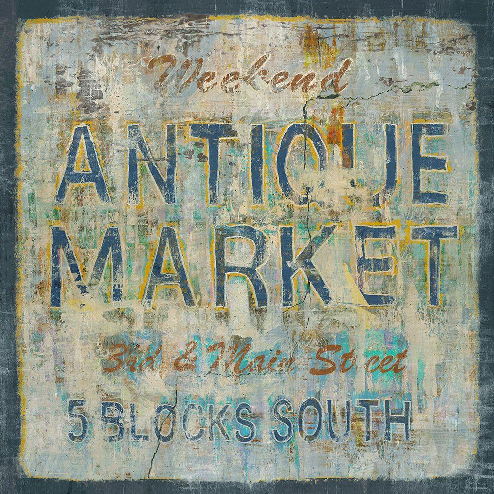 "40 in. x 40 in. ""Antique Market"" by Sofia Fox Gallery"