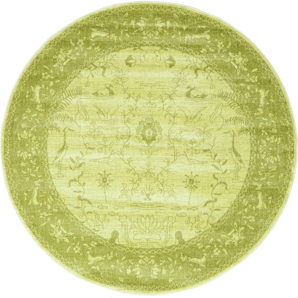 Exceptional La Jolla Light Green 6 Ft. X 6 Ft. Round Rug