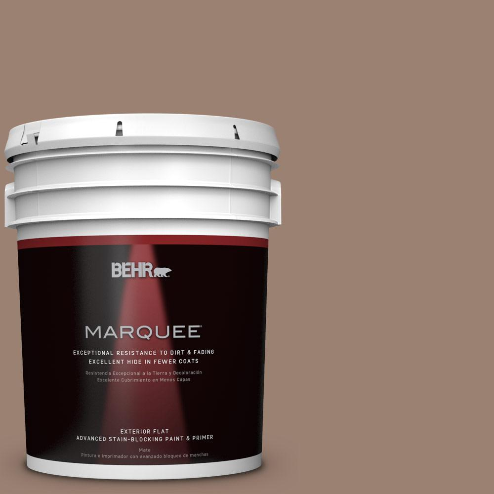 BEHR MARQUEE 5-gal. #N190-5 Frontier Brown Flat Exterior Paint-445405 - The