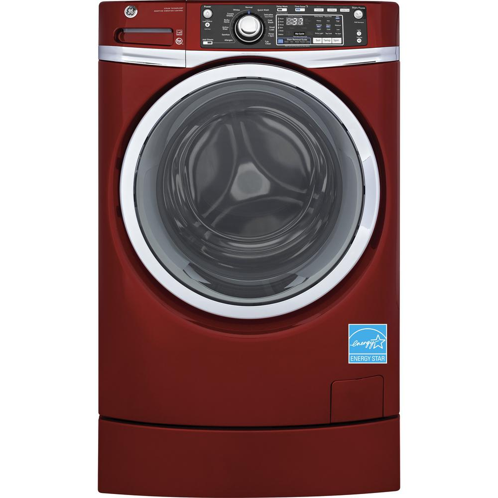 GE 8.3 cu. ft. Gas Dryer with Steam in Red, ENERGY