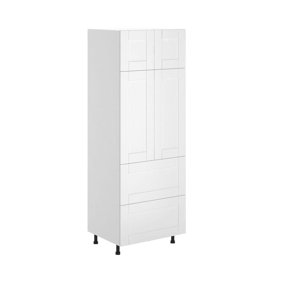 Eurostyle Ready to Assemble 30x83.5x24.5 in. Stockholm 2-Drawer Pantry Cabinet