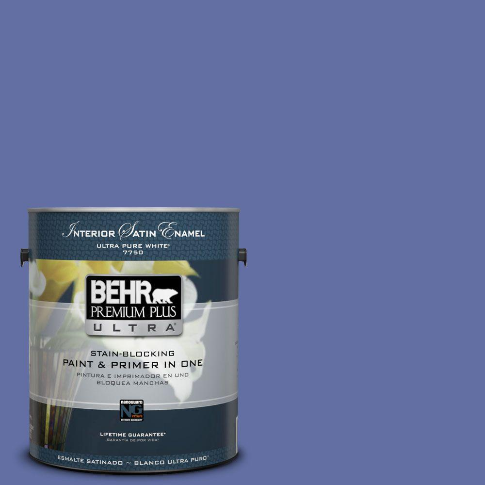 BEHR Premium Plus Ultra 1-gal. #610B-6 Stained Glass Satin Enamel Interior Paint