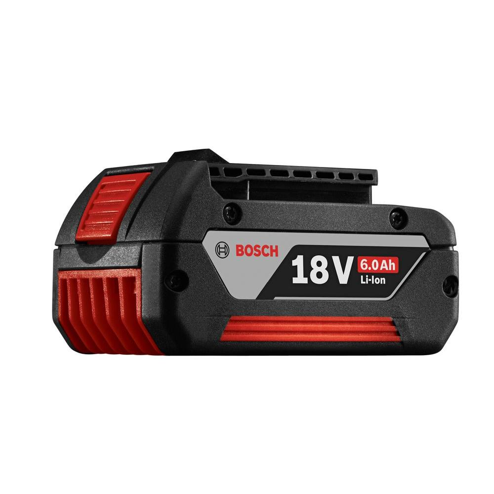 Bosch 18 Volt Lithium-Ion 6.0 Ah Battery-BAT622 - The Home Depot