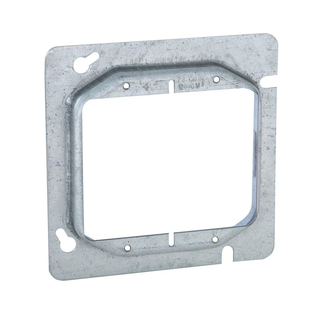 4-11/16 in. Square Two Device Mud Ring, Raised 5/8 in. (25-Pack)-818