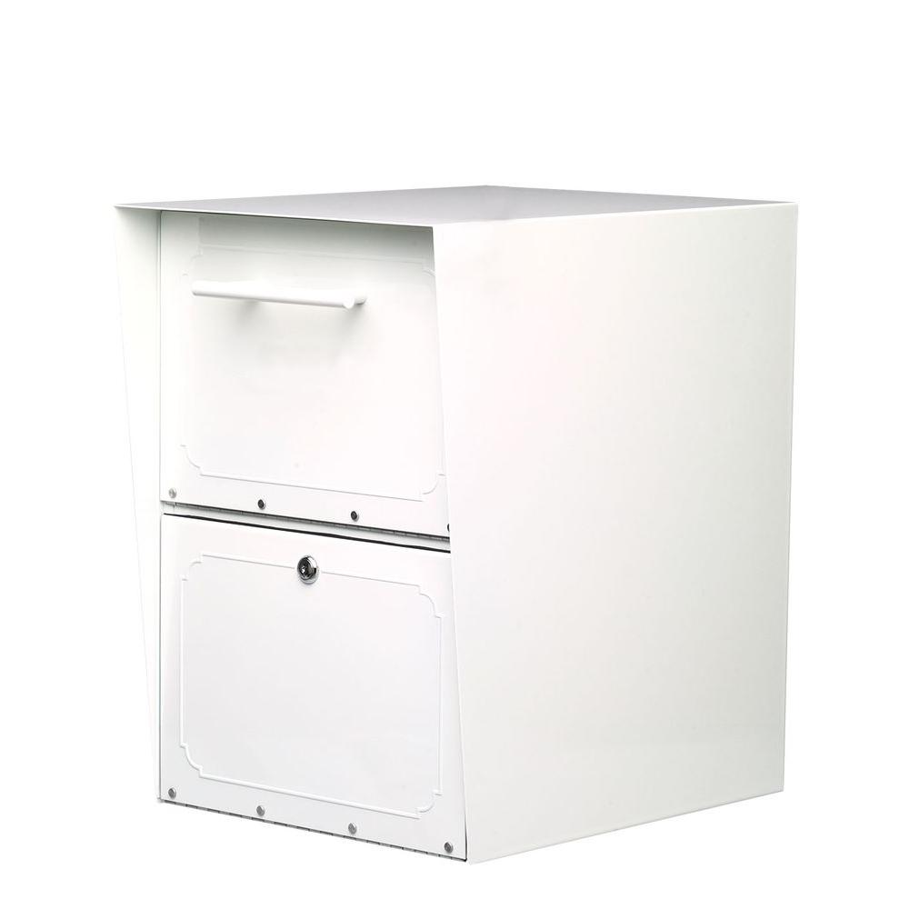 Architectural Mailboxes - Oasis White Post-Mount or Colum...