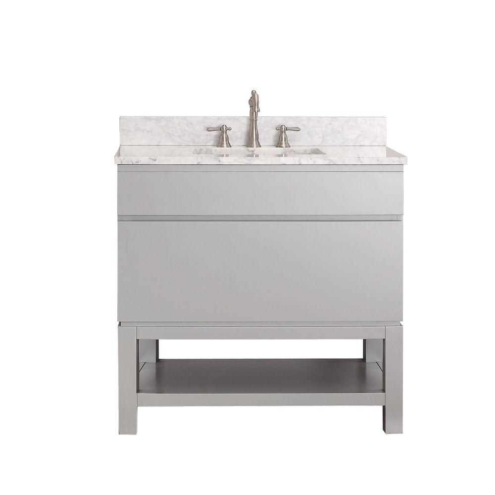 Avanity Tribeca 36 in. Vanity Cabinet Only in Chilled Gray