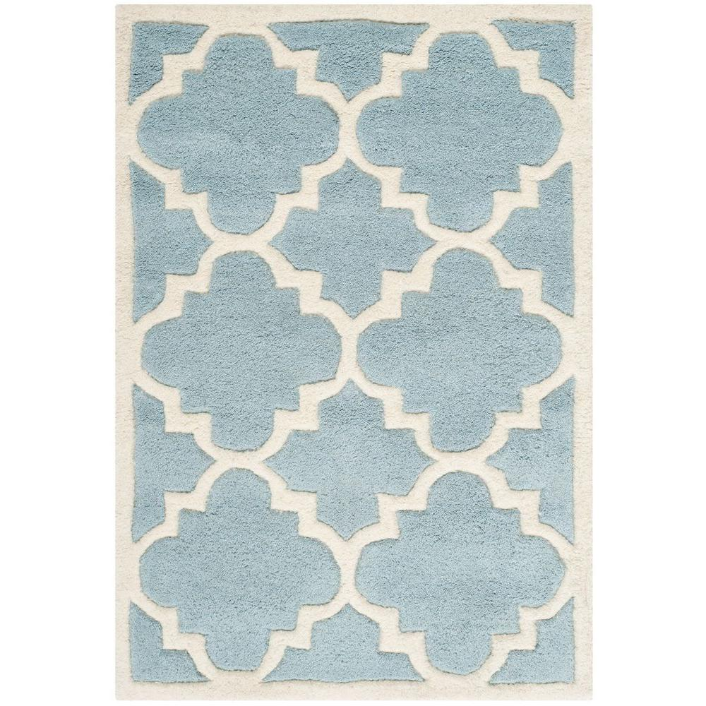 Safavieh Chatham Blue/Ivory 3 ft. x 5 ft. Area Rug