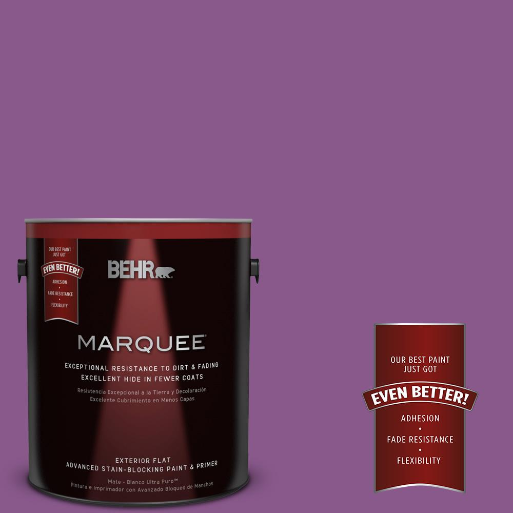 BEHR MARQUEE 1-gal. #670B-7 Candy Violet Flat Exterior Paint