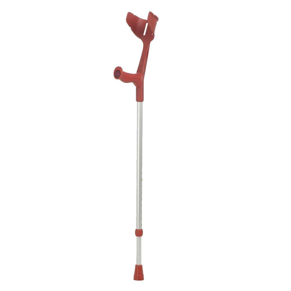 null Fixed Open Cuff Forearm Crutch in Red