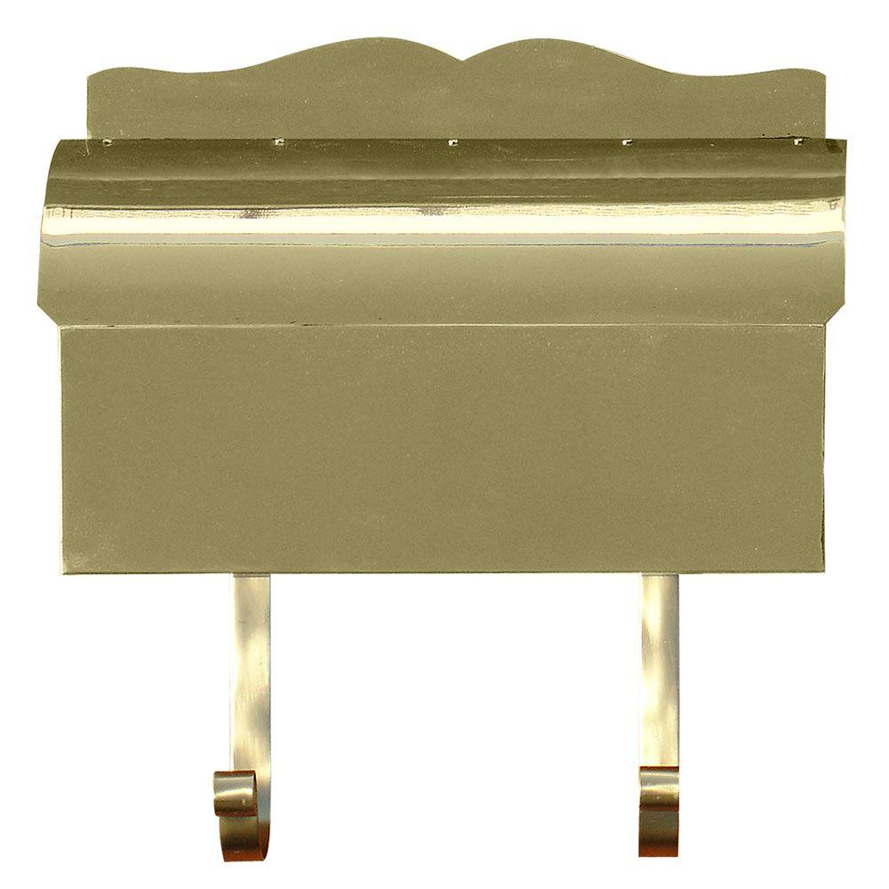 Polished Brass Wall Mount Non-Locking Mailbox