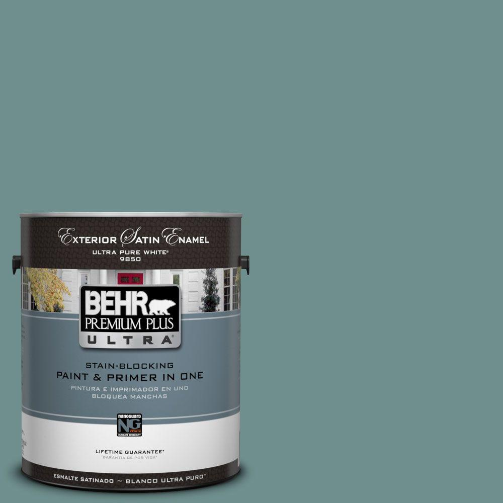 BEHR Premium Plus Ultra 1-Gal. #UL220-19 Dragonfly Satin Enamel Exterior Paint