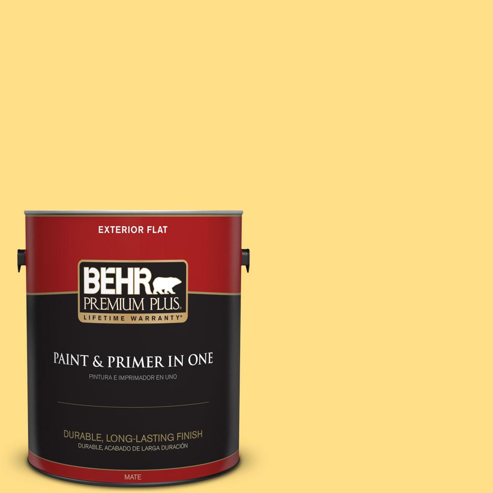 1-gal. #360B-4 Sweet Chamomile Flat Exterior Paint