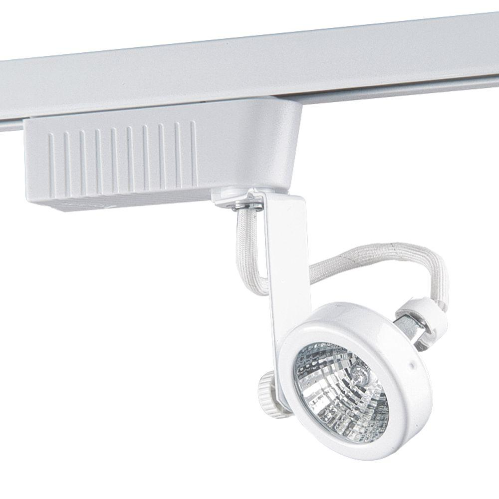 201 Series Low-Voltage MR16 White Gimball Style Track Lighting Fixture