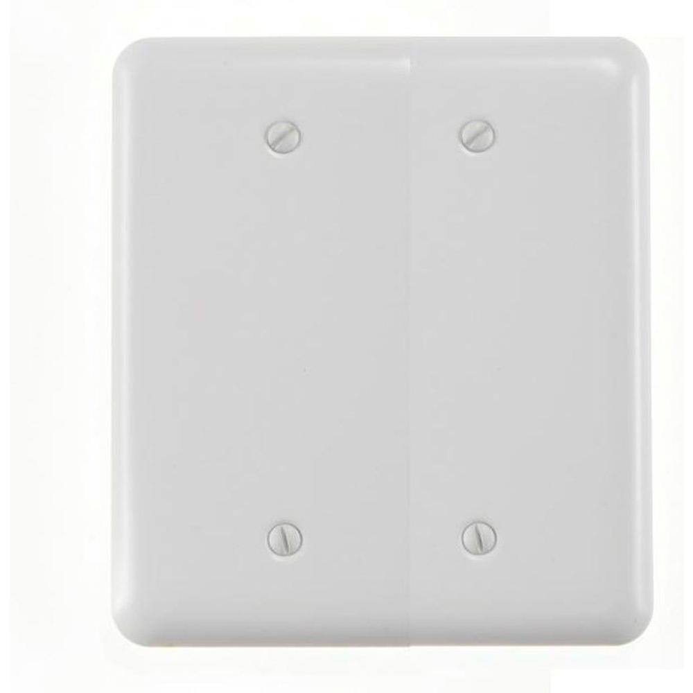 Amerelle Steel 2 Blank Wall Plate - White
