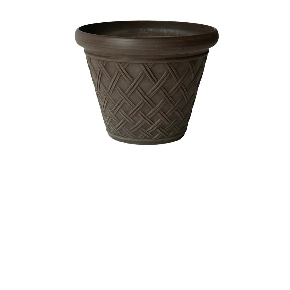Arcadia Garden Products Basket Weave 18 in. x 14 in. Chocolate