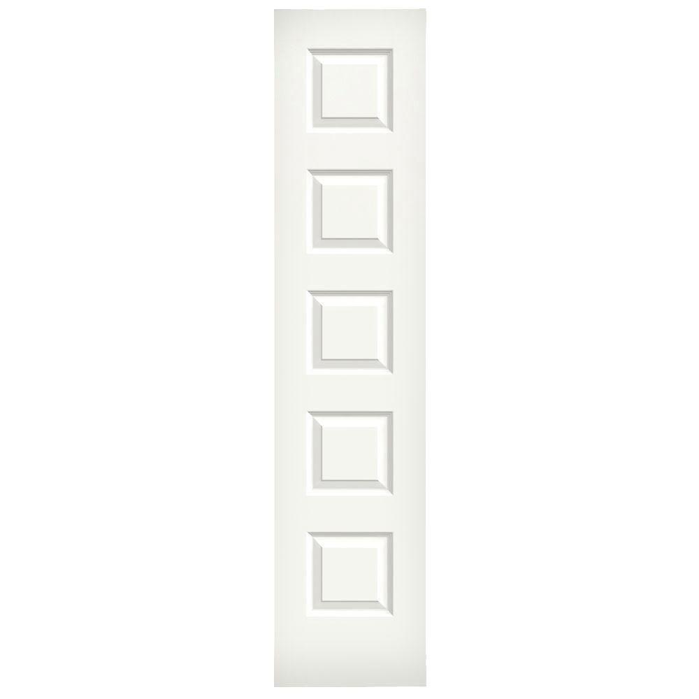 JELD-WEN 18 in. x 80 in. Molded Smooth 5-Panel Brilliant White